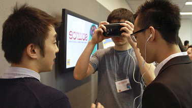 Students try out virtual reality headset at SOURCE